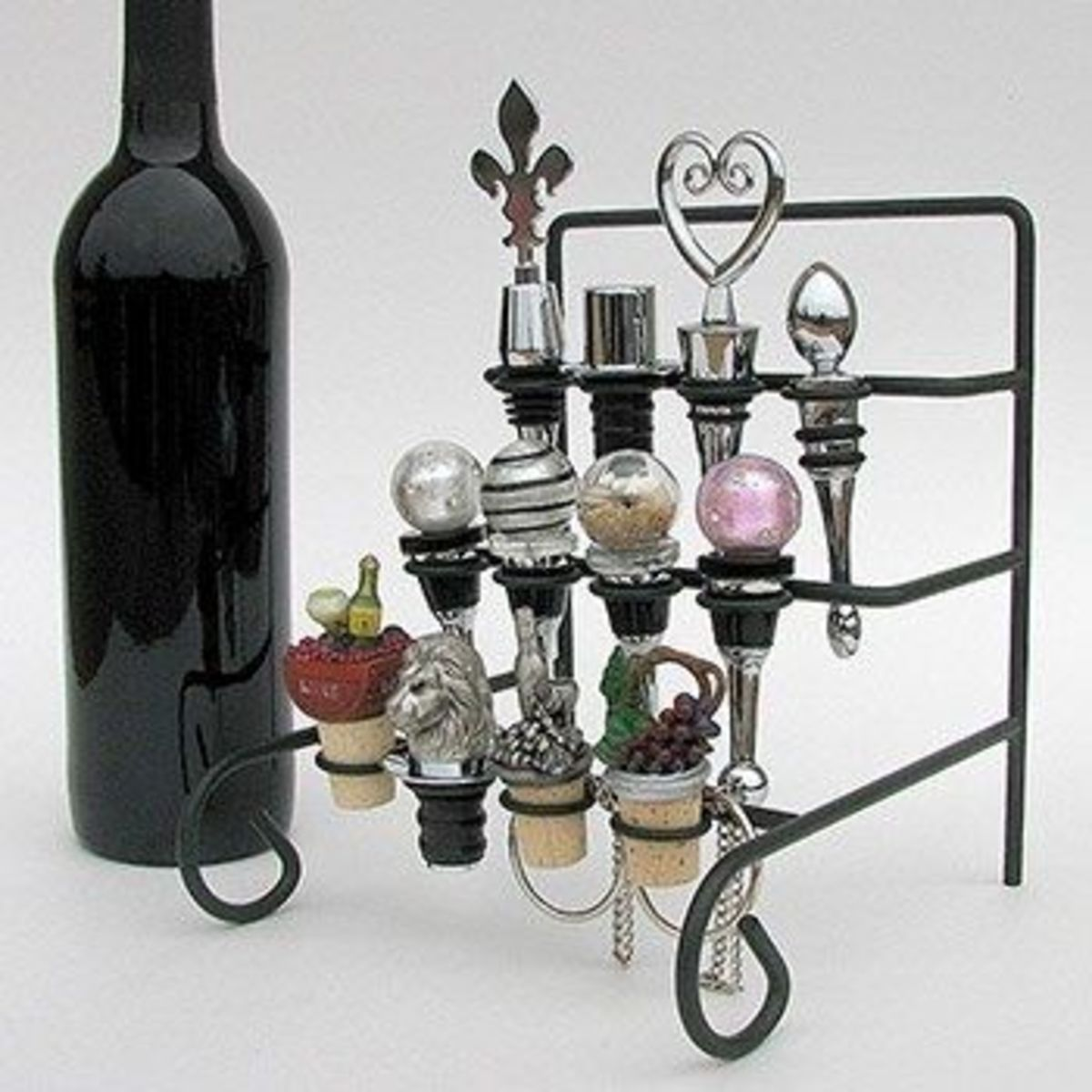 Wine Bottle Stopper Display Rack or Stopper Stand