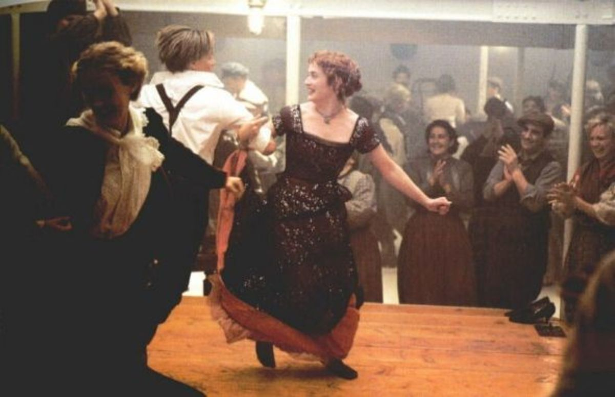 Kate Winslet and Leonardo DiCaprio in Titanic