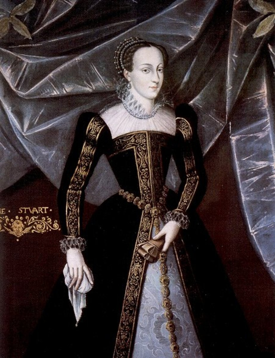 Mary, Queen of Scots wearing an Escoffion