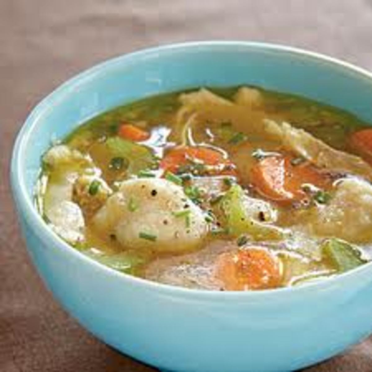 Chicken and Dumplings with Biscuits