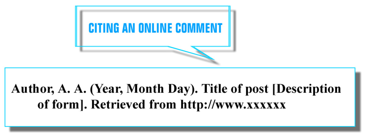 CITING AN ONLINE COMMENT