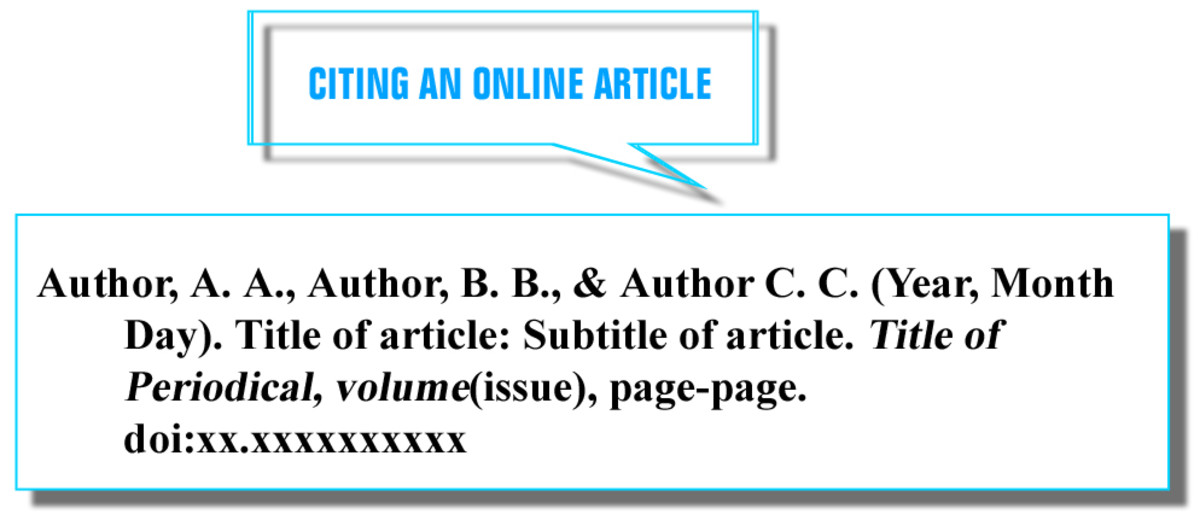 CITING AN ONLINE ARTICLE