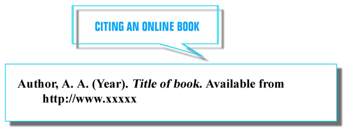 CITING AN ONLINE BOOK