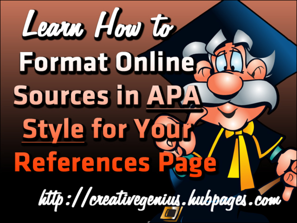 LEARN HOW TO FORMAT ONLINE SOURCES IN APA STYLE