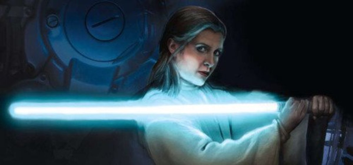 New Star Wars - Princess Leia Wields A Light Saber....