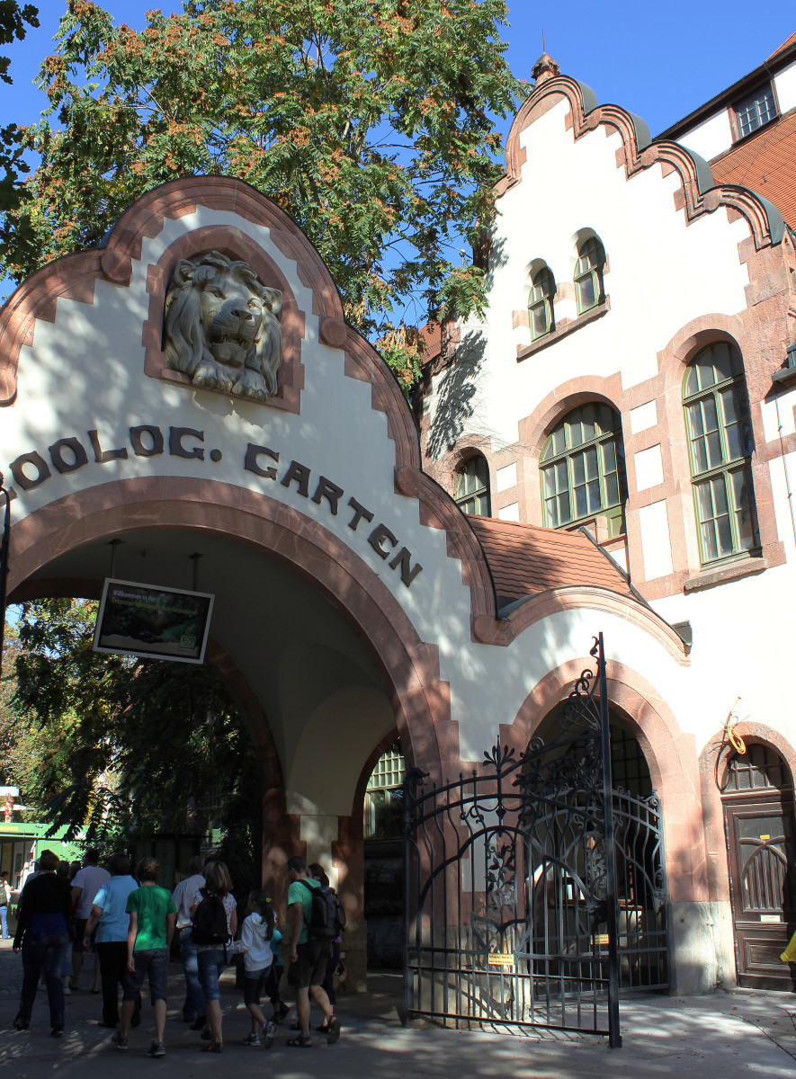 The old entrance to Leipzig Zoo, built more than 100 years ago, and still in use today.