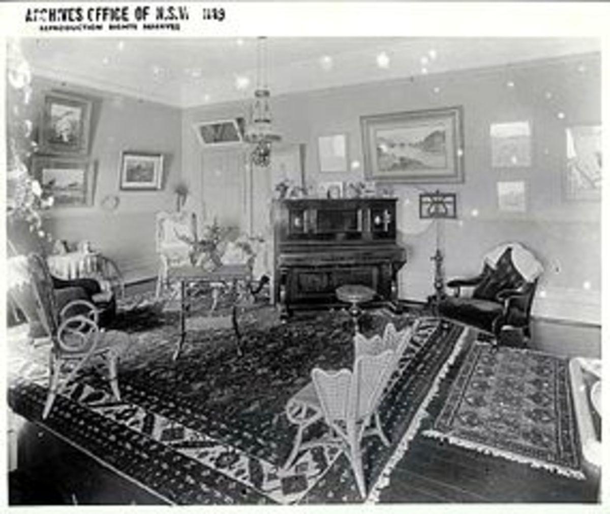 Interior of a Victorian parlour