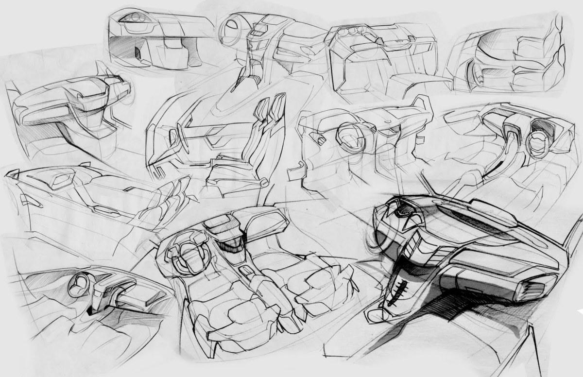 Interior Sketches by Duo Hong