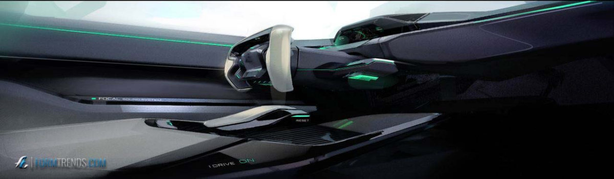 Car Sketch Interior Design