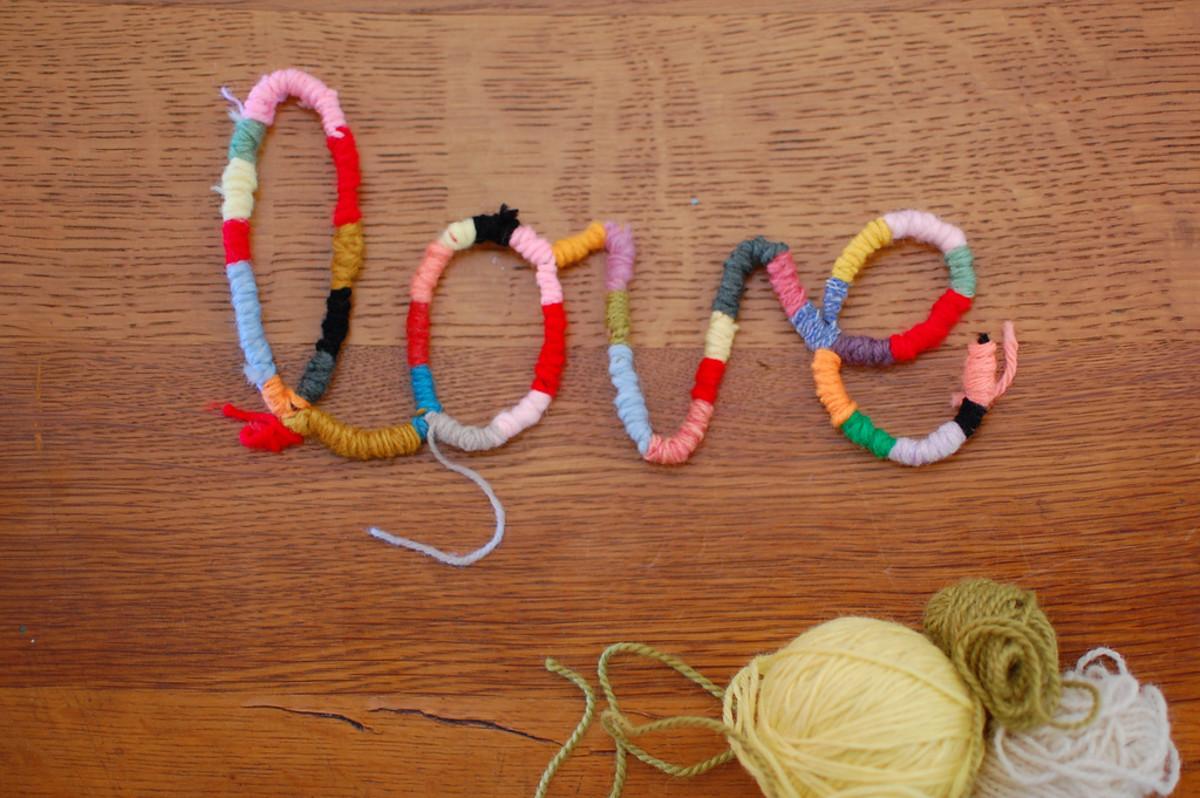 Yarn Word Art