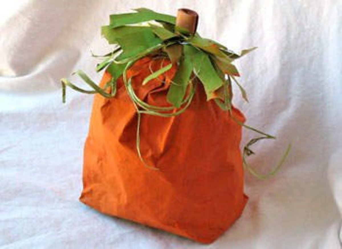 Paper Bag Pumpkin