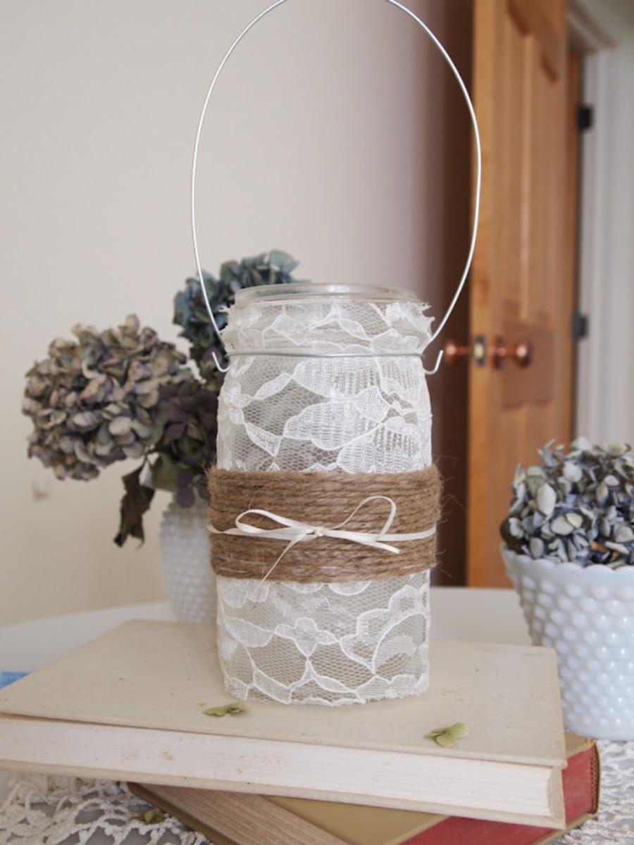 Jute Wrapped Mason Jar Luminary