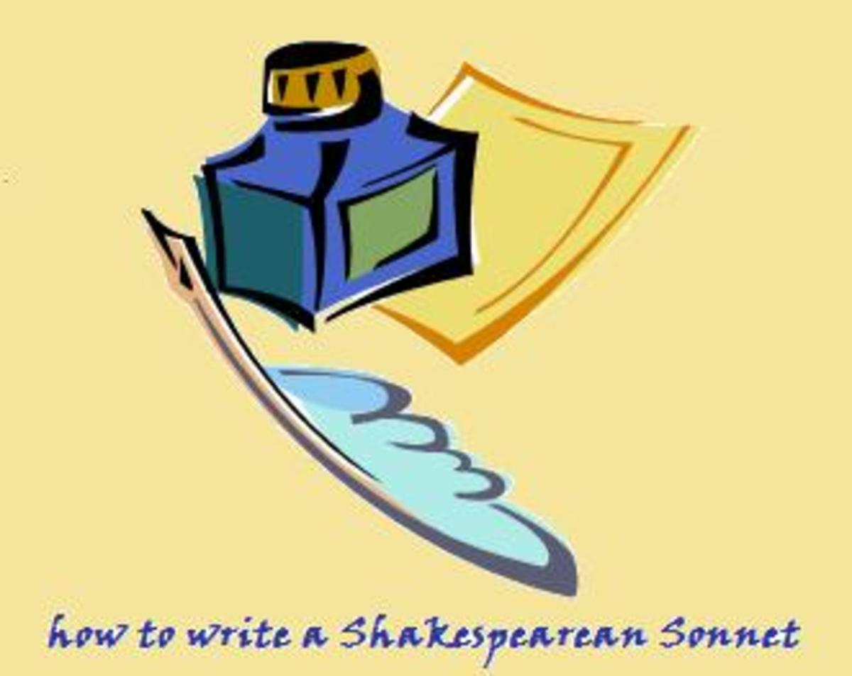 How to write a Shakespearean sonnet?