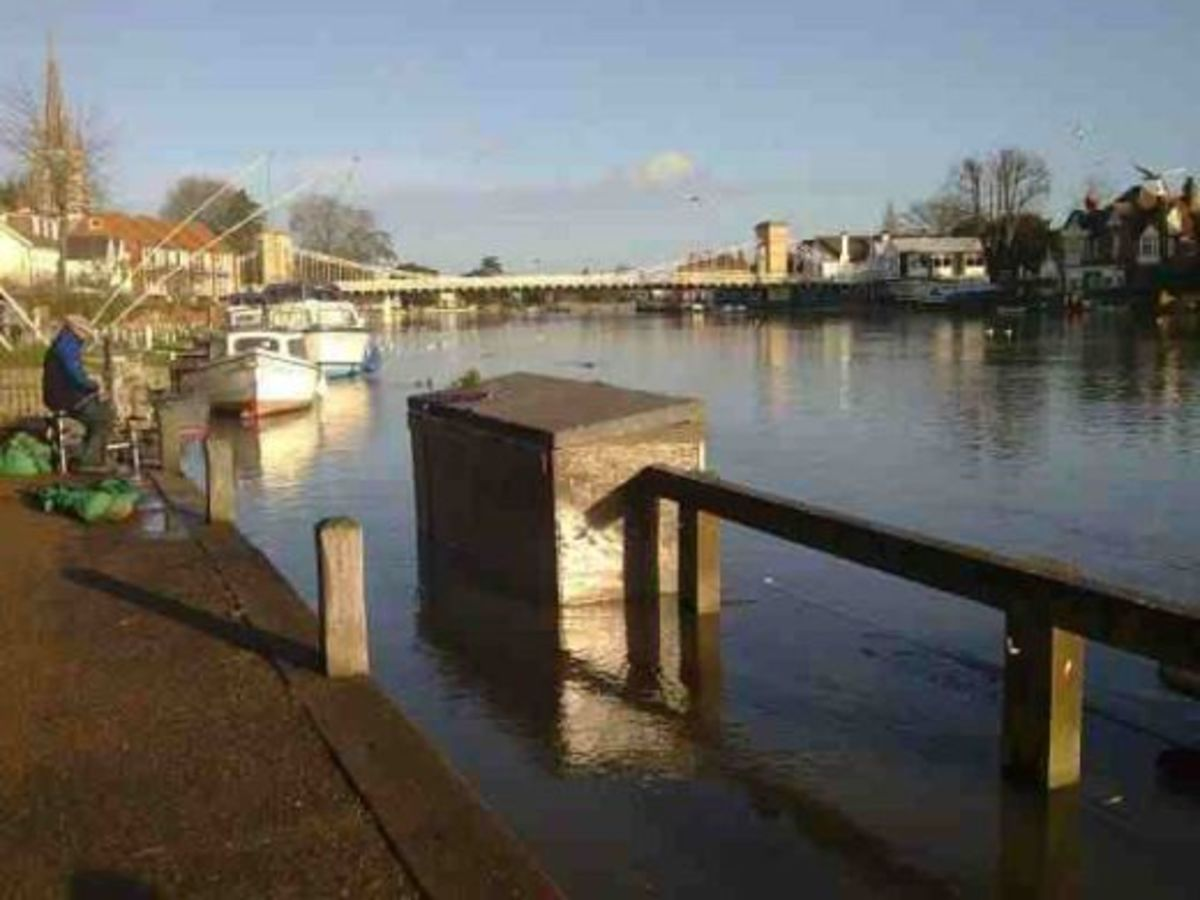 Marlow on Thames River