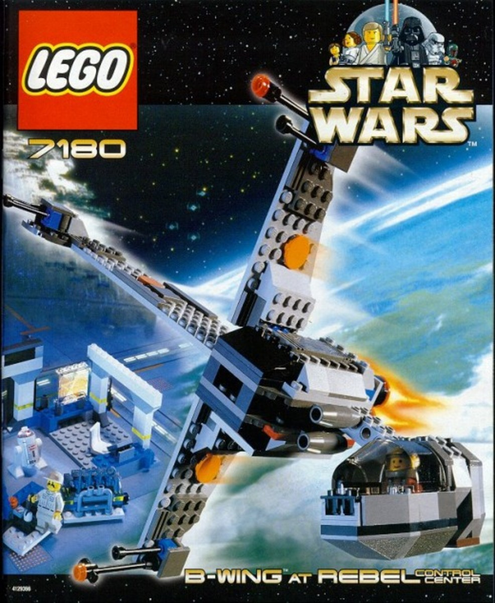Lego Star Wars B-Wing at Rebel Control Center 7180 Box