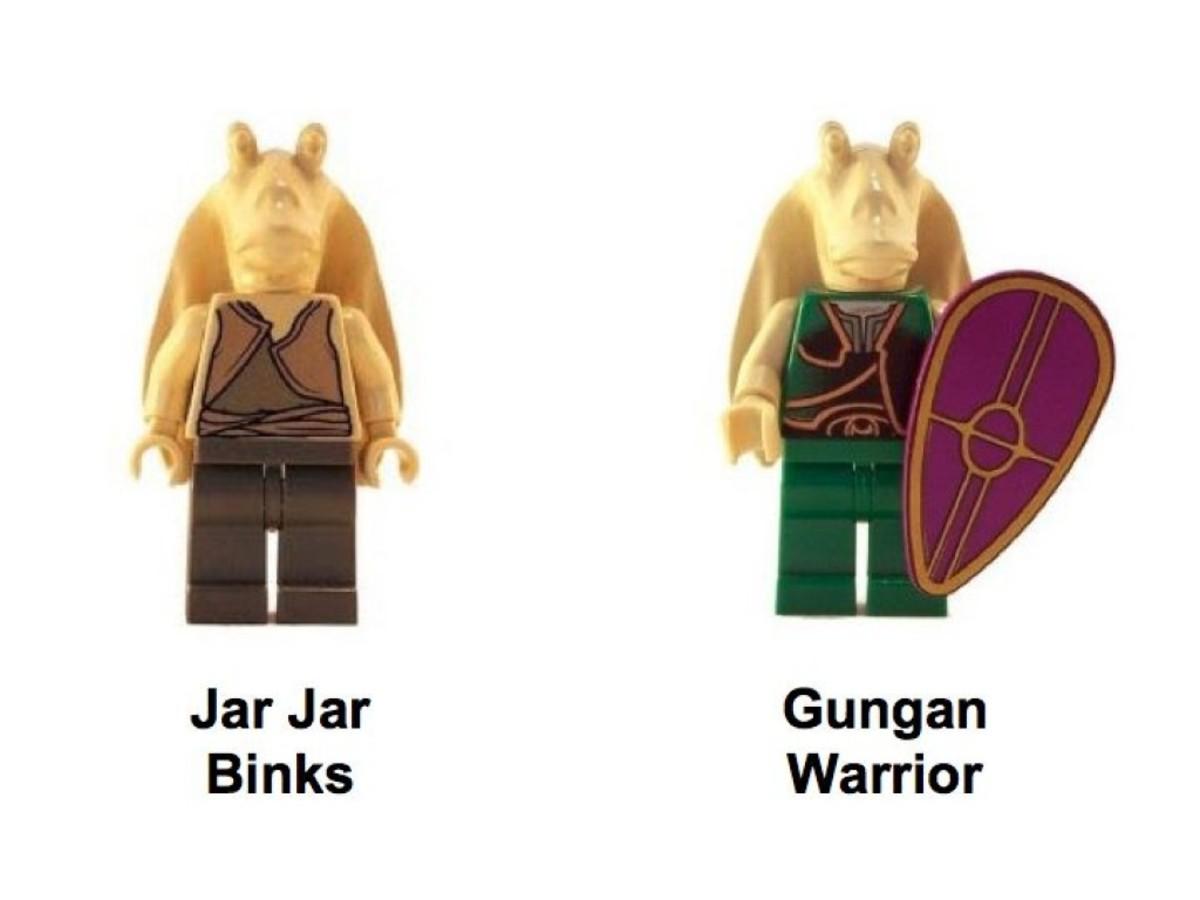Lego Star Wars Gungan Patrol 7115 Minifigures