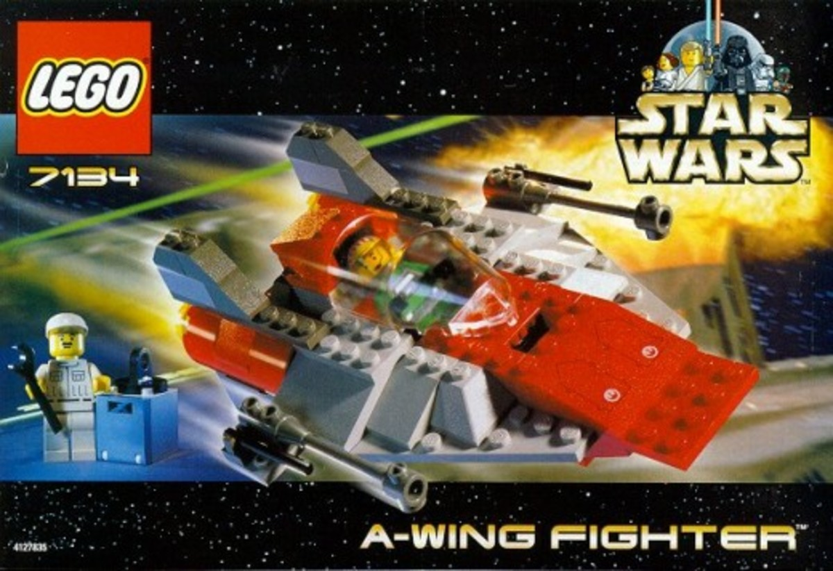 Lego Star Wars A-Wing Fighter 7134 Box