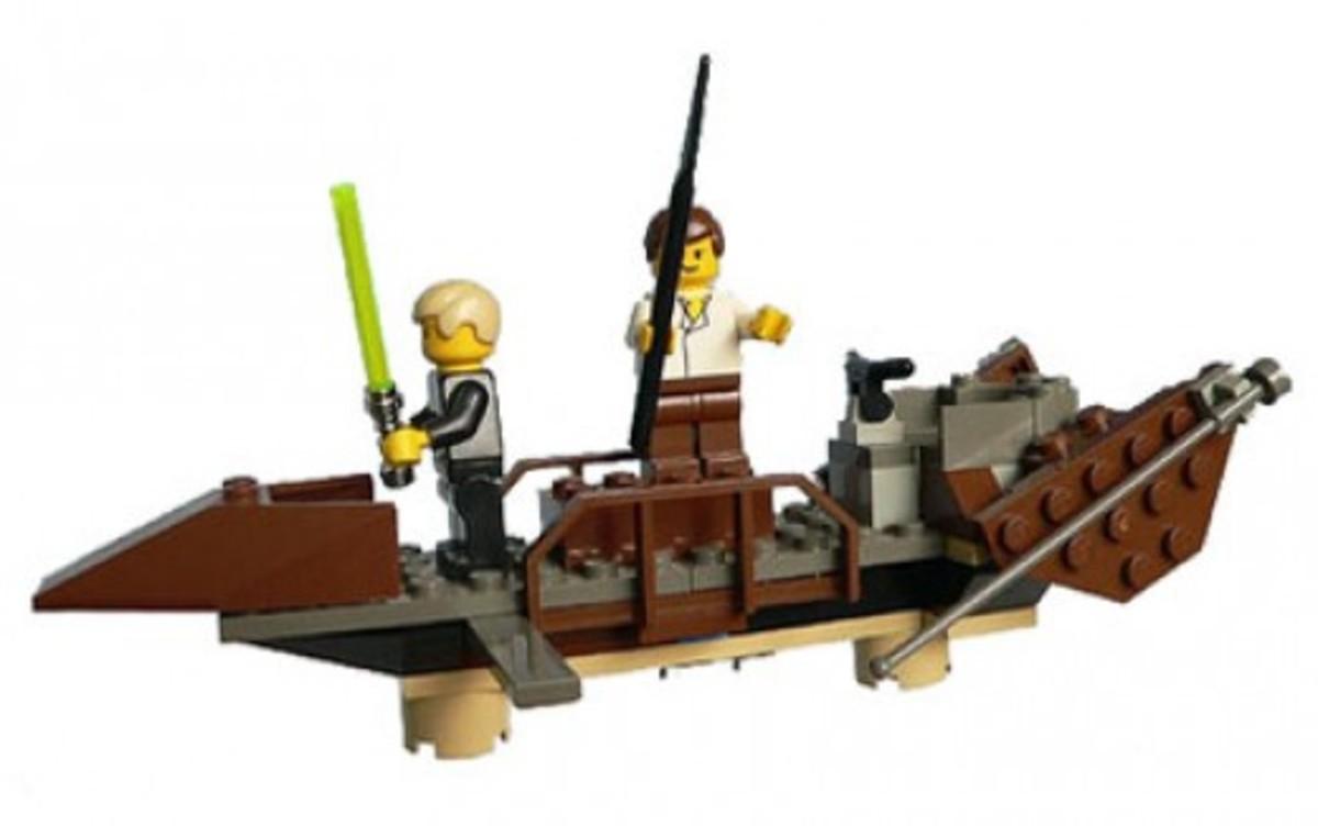 Lego Star Wars Desert Skiff 7104 Assembled
