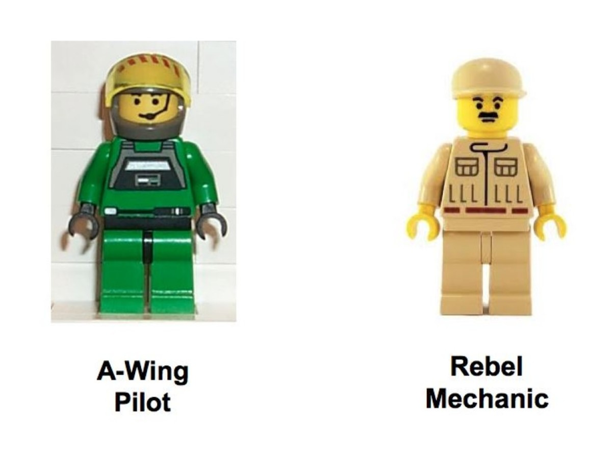 Lego Star Wars A-Wing Fighter 7134 Minifigures