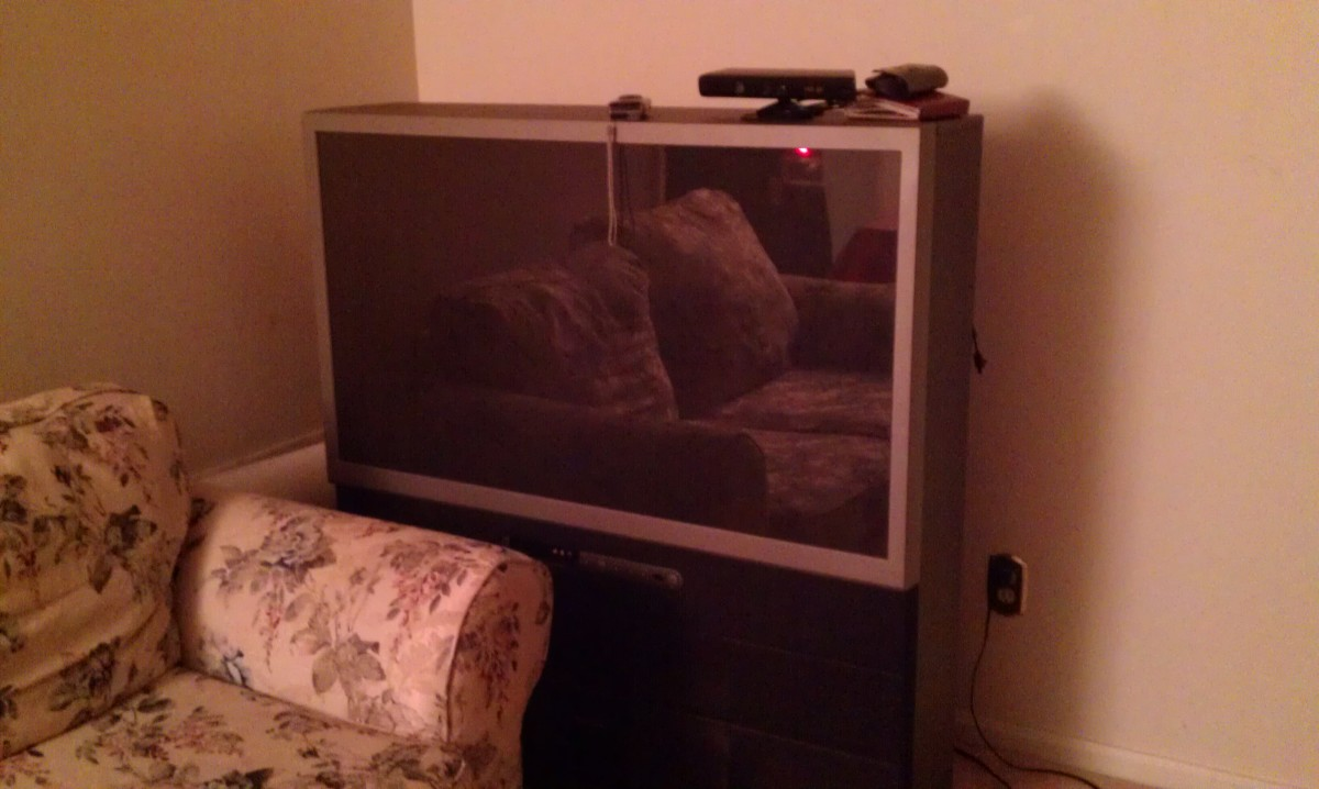 Fig 1.  A Large Screen Projection TV Hogging Up Living Room Space.