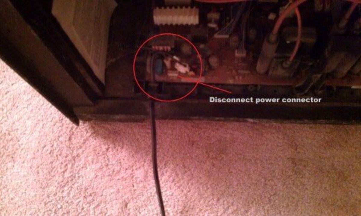 Fig 3.  Disconnecting Power Cord
