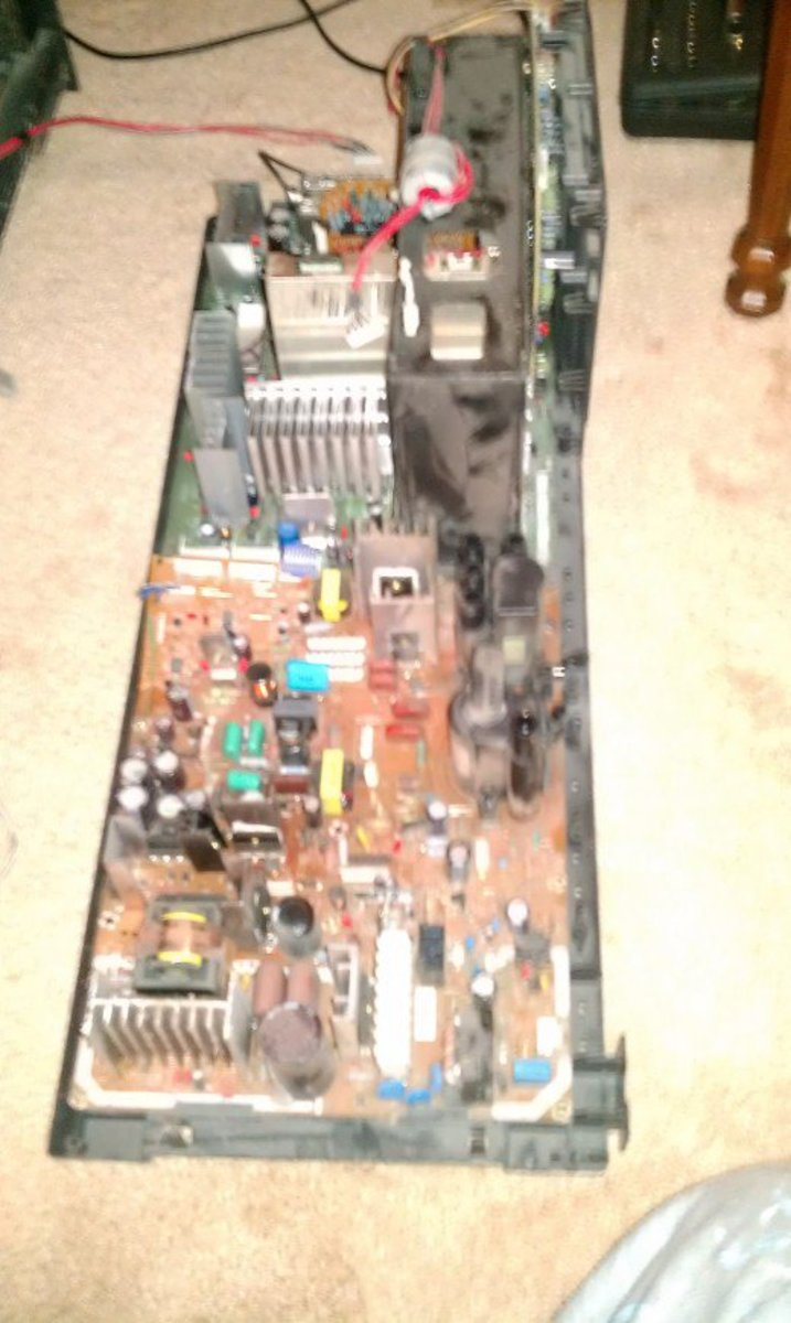 Fig 6.  Main Power Board Removed
