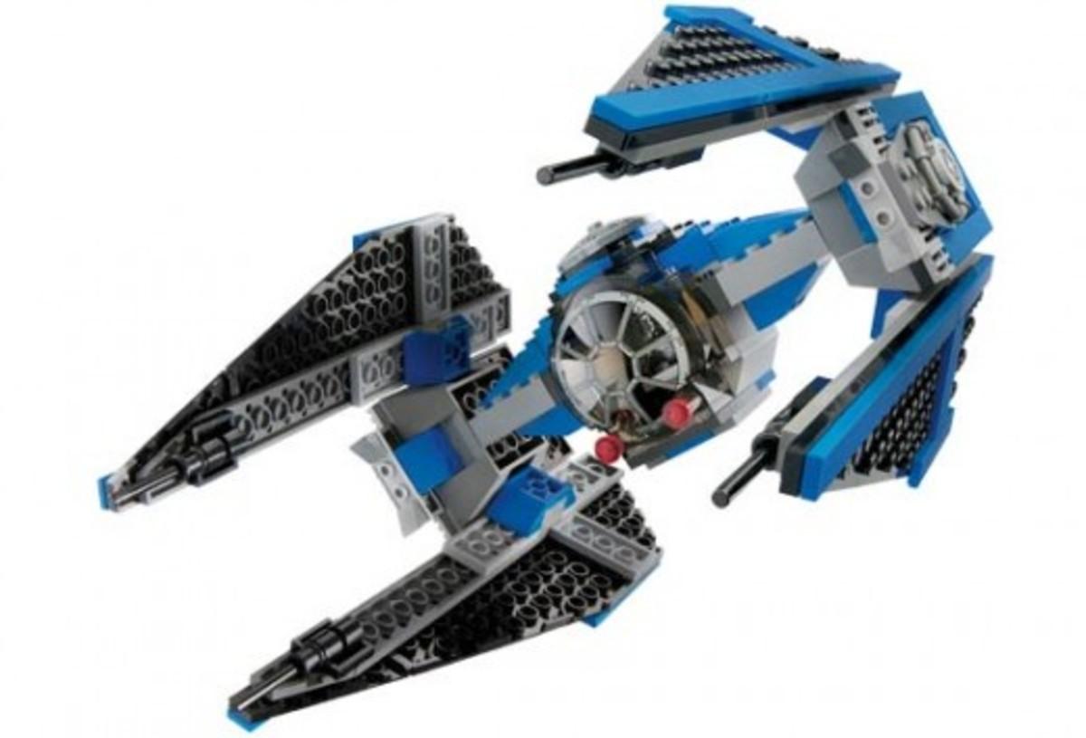Lego Star Wars TIE Interceptor 6206 Assembled