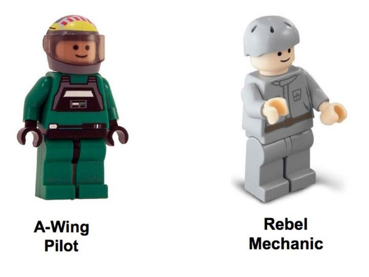 Lego Star Wars A-Wing Fighter 6207 Minifigures