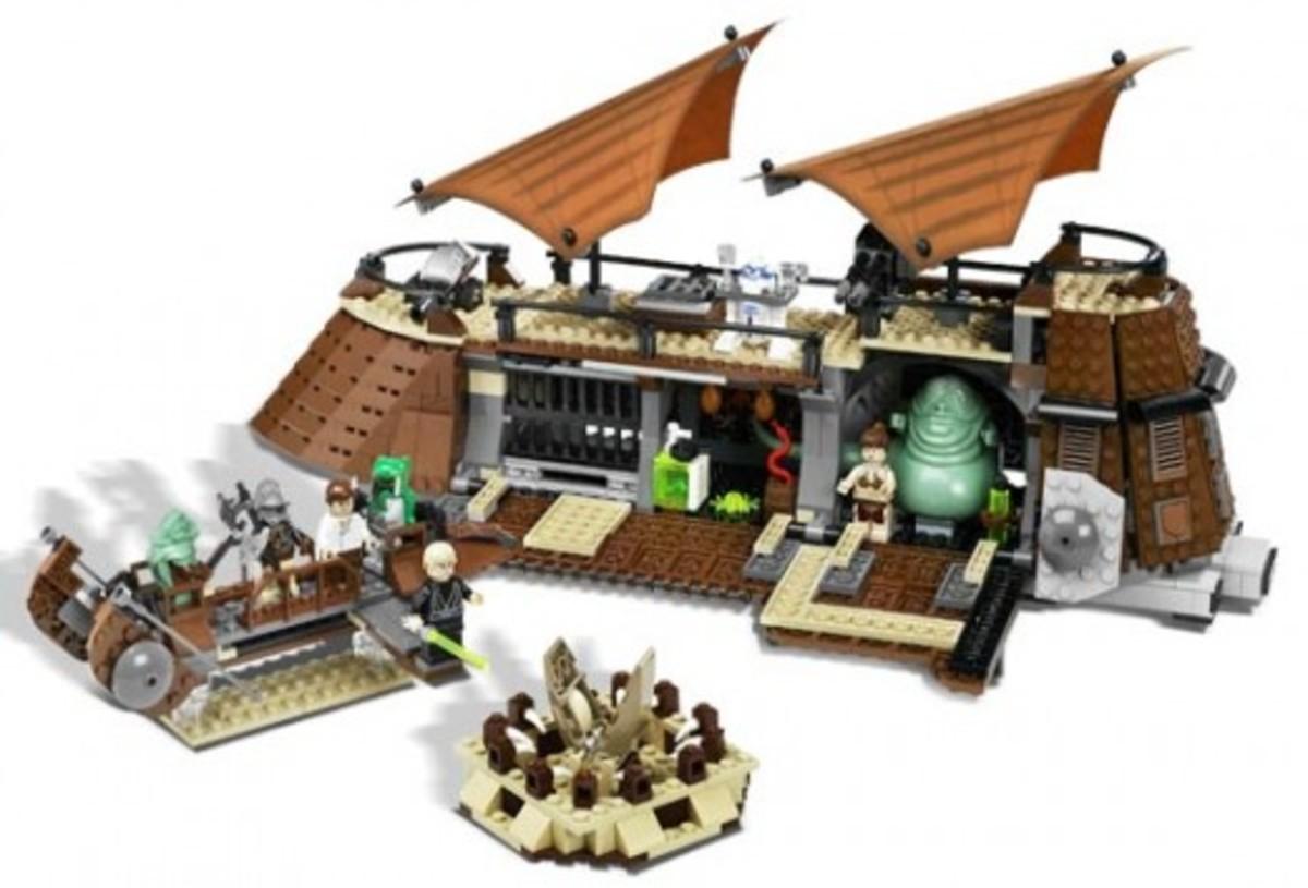 Lego Star Wars Jabba's Sail Barge 6210 Assembled