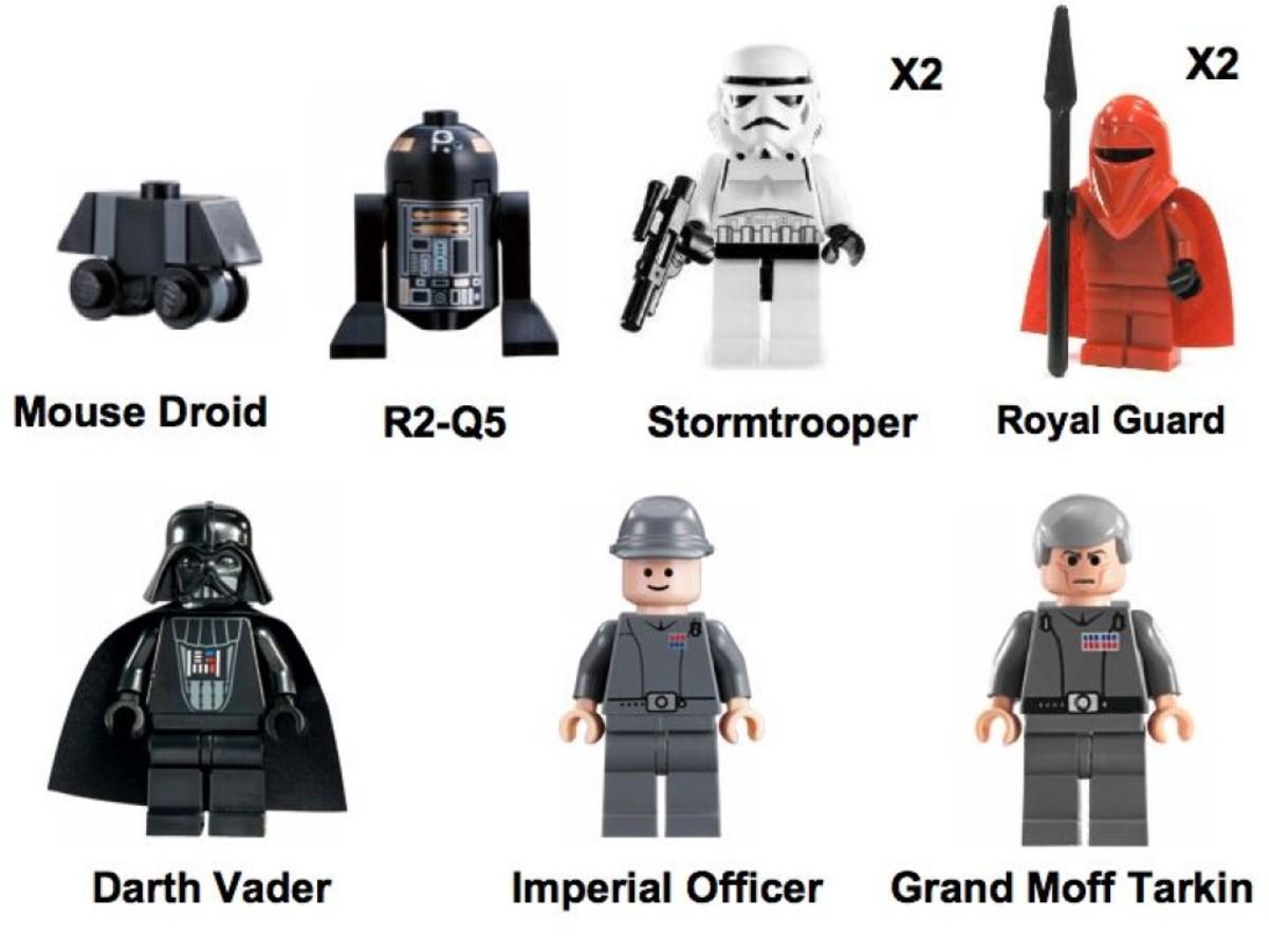 Lego Star Wars Star Destroyer 6211 Minifigures