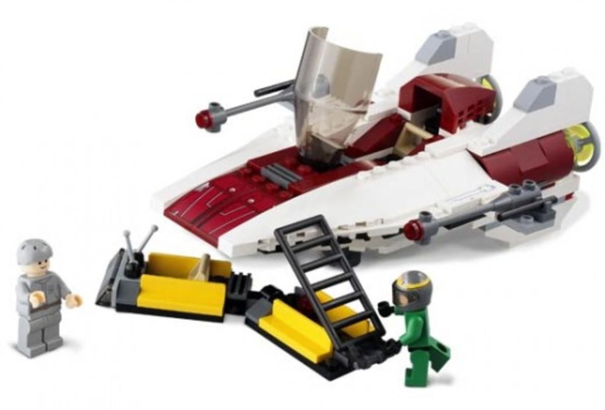 Lego Star Wars A-Wing Fighter 6207 Assembled