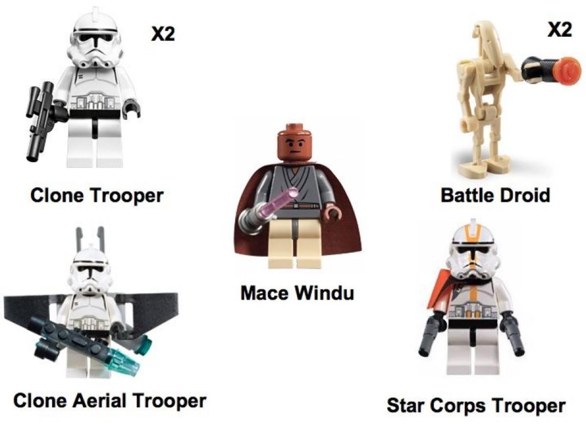 Lego Star Wars Clone Turbo Tank 7261 Minifigures