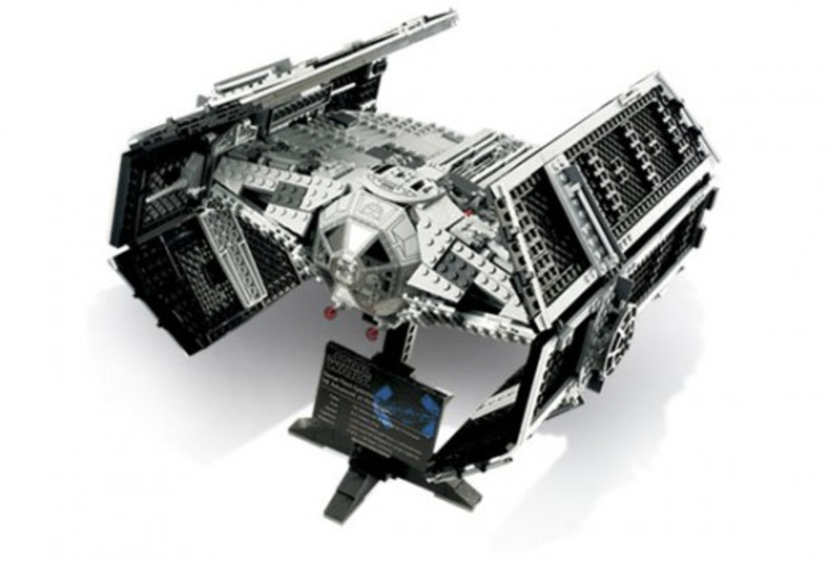 Lego Star Wars Vader's TIE Advanced 10175 Assembled