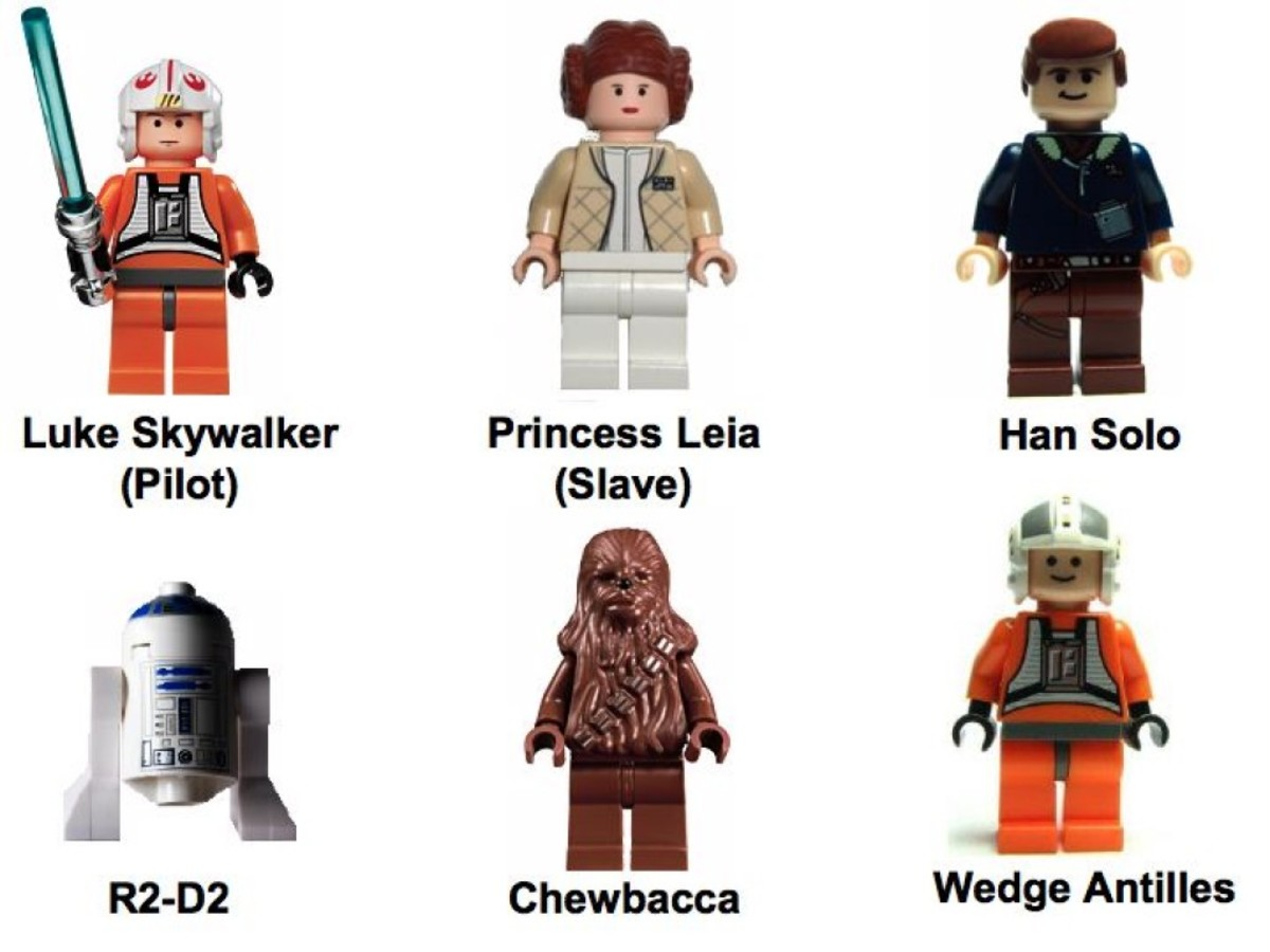 Lego Star Wars X-Wing Fighter 6212 Minifigures