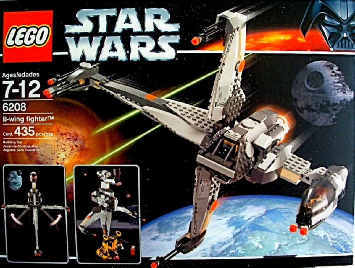 Lego Star Wars B-Wing Fighter 6208 Box