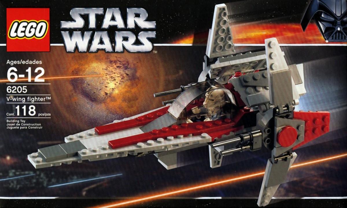 Lego Star Wars V-Wing Fighter 6205 Box