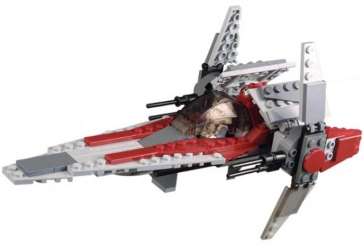 Lego Star Wars V-Wing Fighter 6205 Assembled