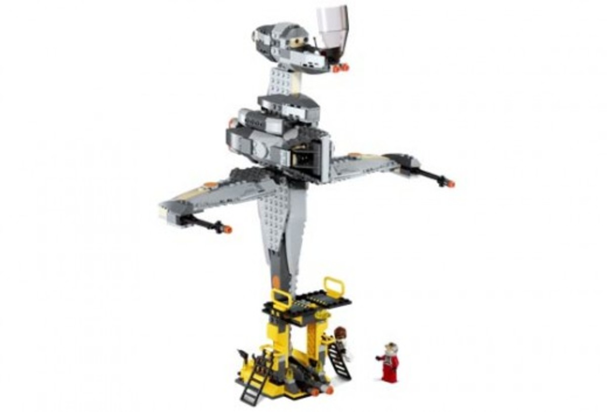 Lego Star Wars B-Wing Fighter 6208 Assembled