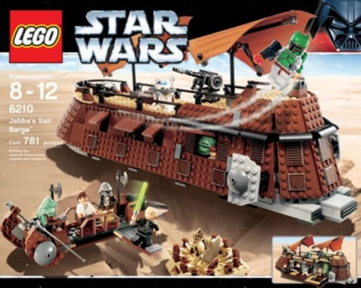 Lego Star Wars Jabba's Sail Barge 6210 Box