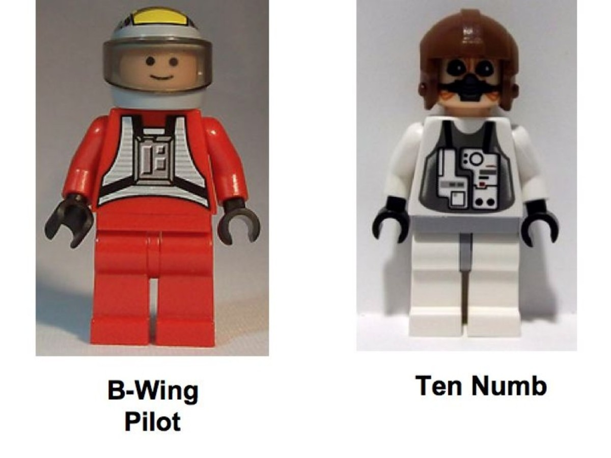 Lego Star Wars B-Wing Fighter 6208 Minifigures