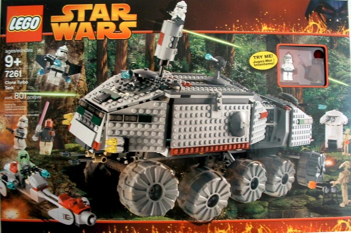Lego Star Wars Clone Turbo Tank 7261 Box