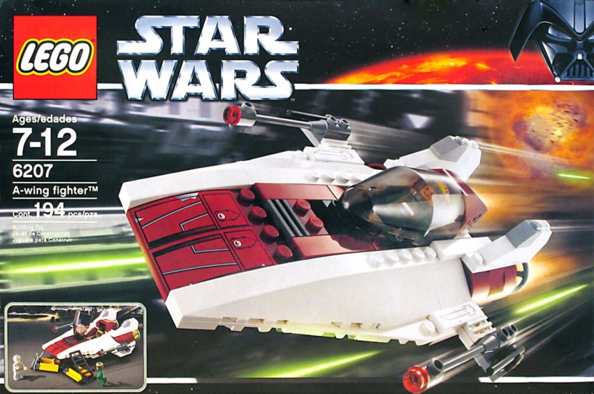 Lego Star Wars A-Wing Fighter 6207 Box