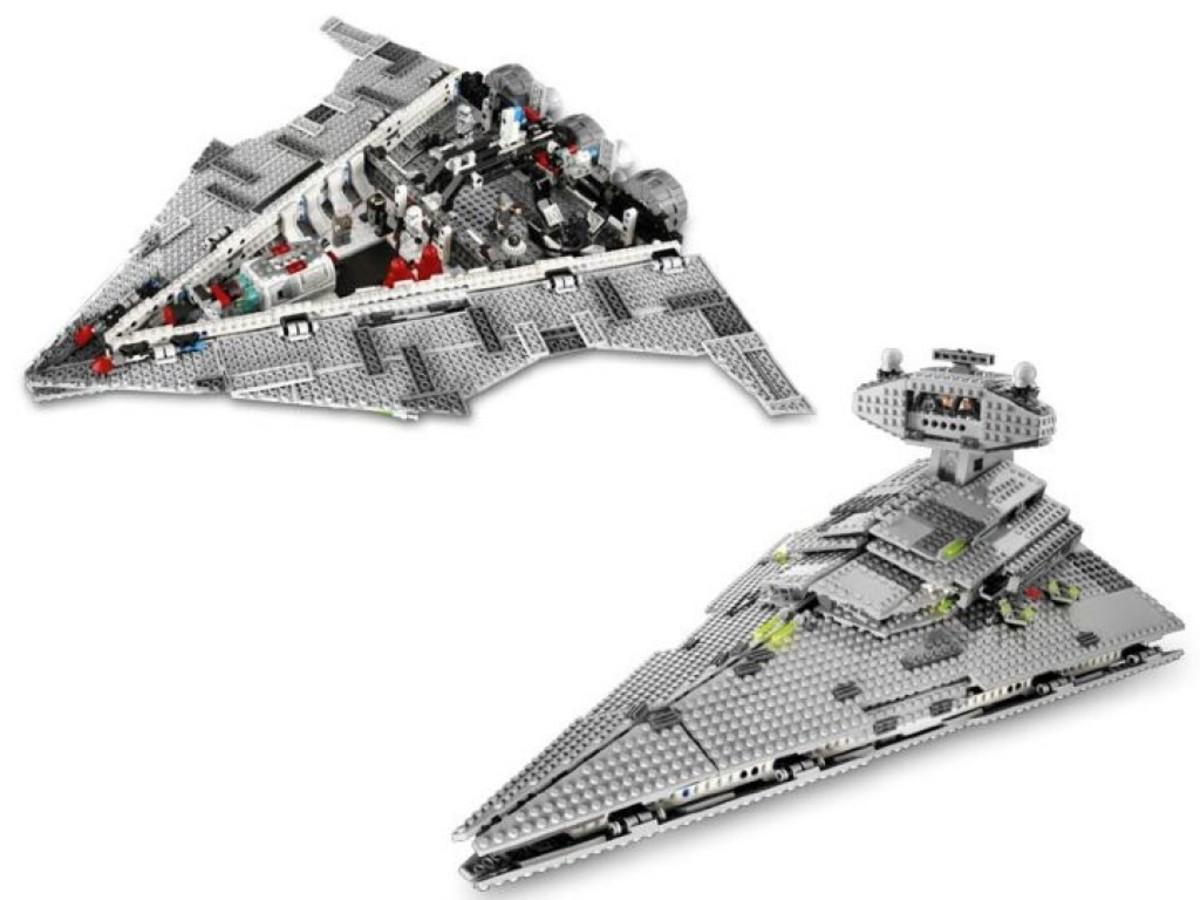 Lego Star Wars Star Destroyer 6211 Assembled