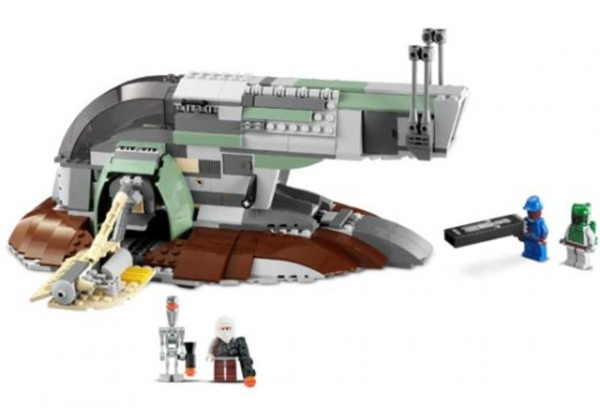 Lego Star Wars Slave 1 6209 Assembled
