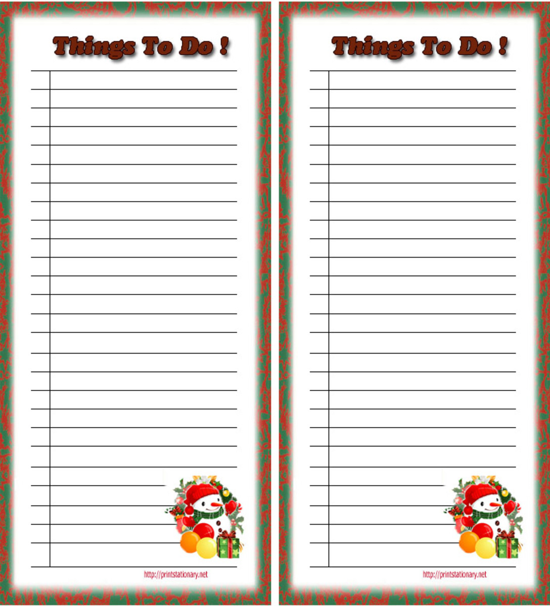 to do printable list