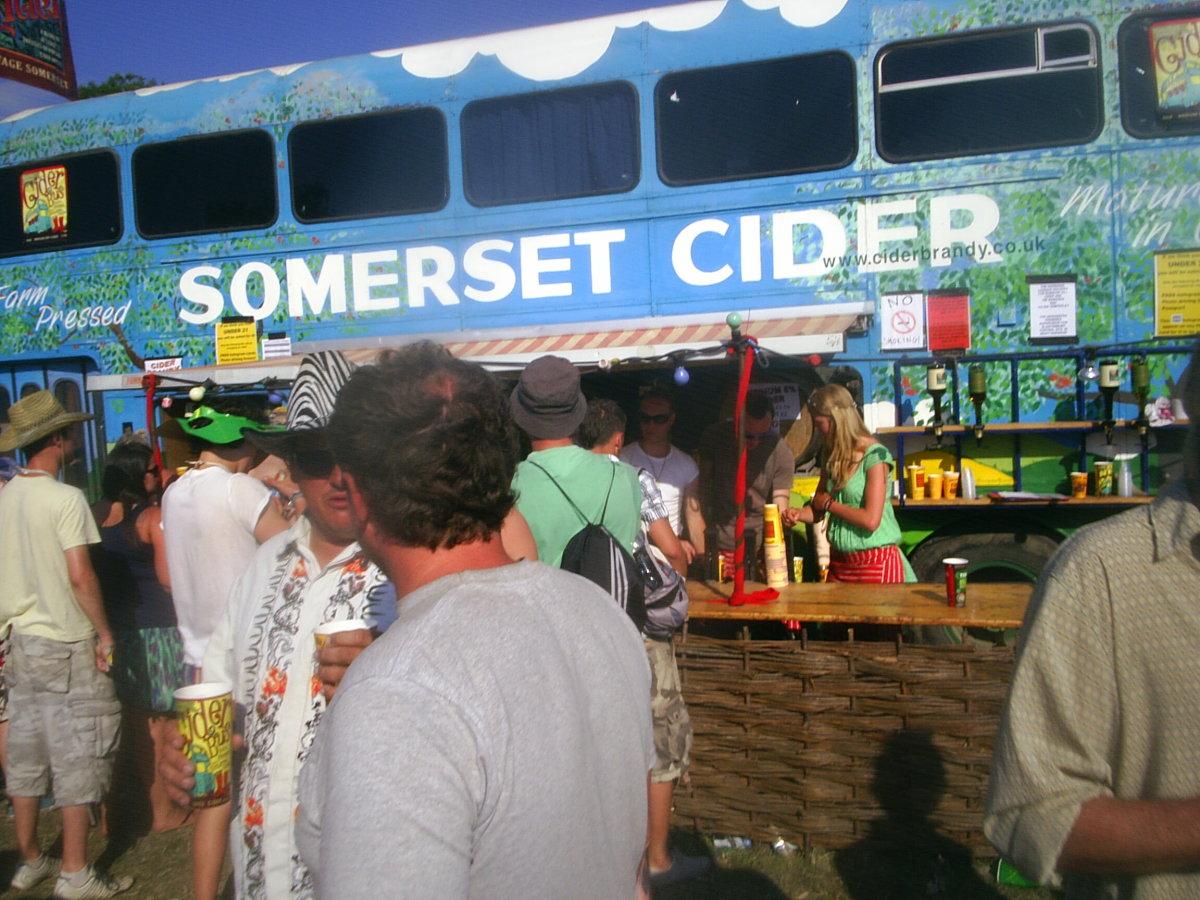 Glastonbury Cider Bus at the Festival
