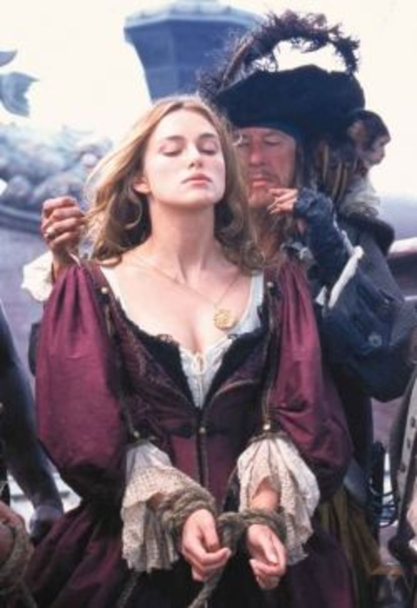 Keira Knightley as Elizabeth Swann fromElizabeth Swann from The Pirates of the Caribbean: The Curses of the Black Pearl