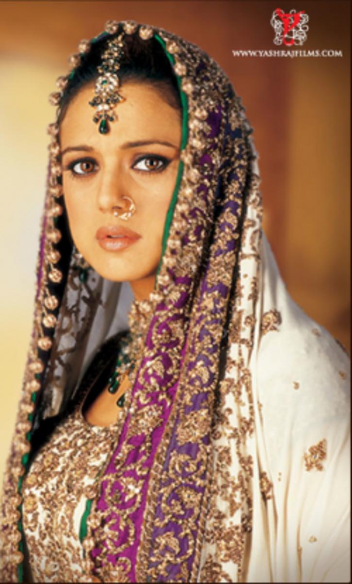 Priety Zinta as Zaara from Veer-Zaara