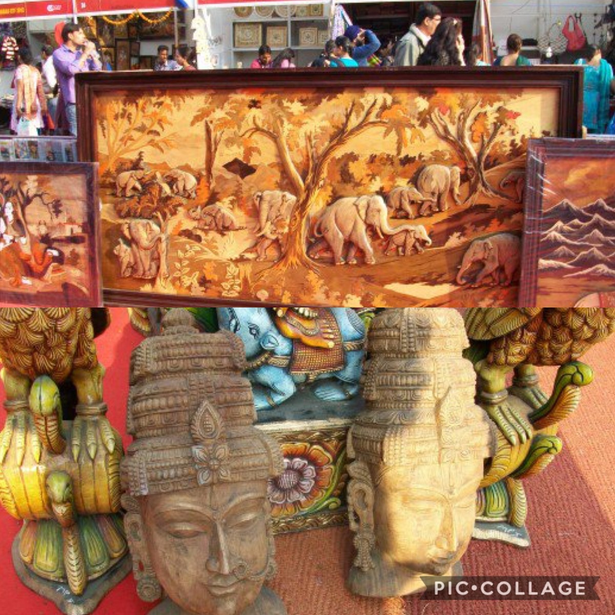 The display of art and handicrafts at IITF, Pragati Maida, New Delhi