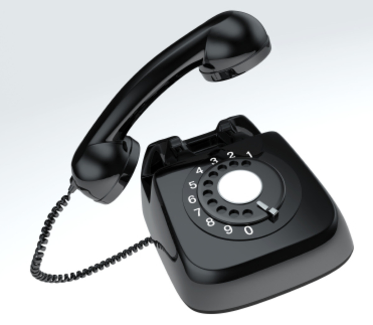 Not the phone again! Old fashioned, black dial phone.